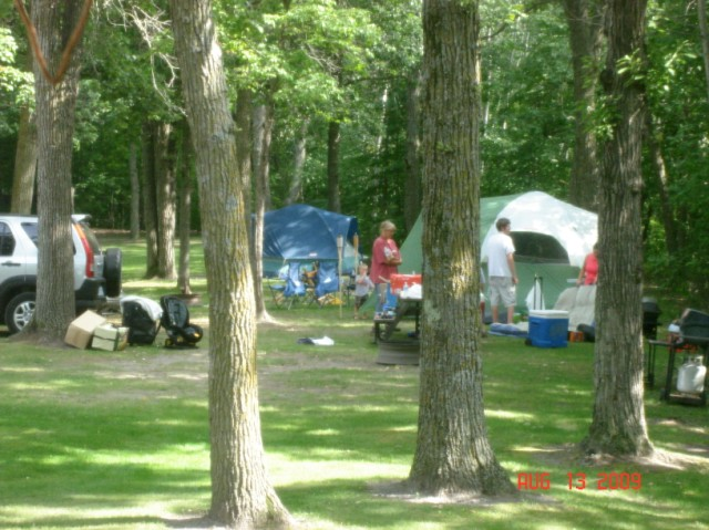 Campers enjoying the campsite.
